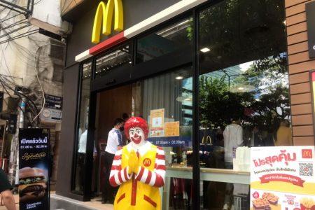 バンコク・タニヤのマクドナルドの場所と営業時間・無料Wifiの使い方